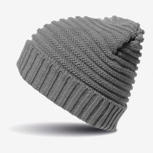 Kapa zimska Braided - siva
