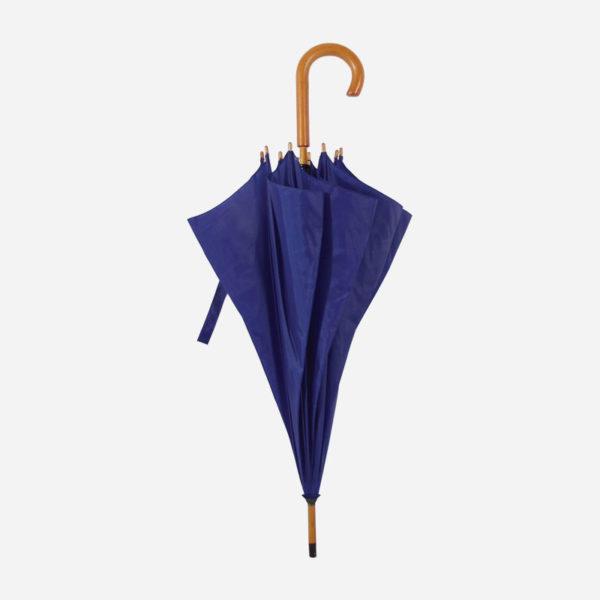 Kišobran s drvenom drškom – tamno plavi