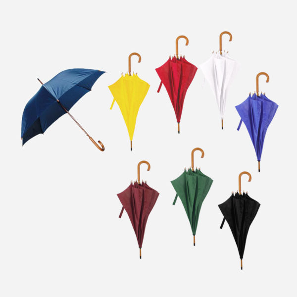 Kišobrani s drvenom drškom