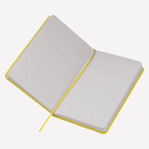 Notes A5 Kiel - žuti otvoreni