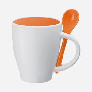 Šalica sa žlicom - narančasta
