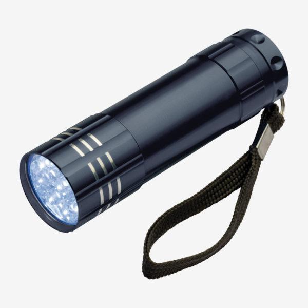 Ručna LED svjetiljka Montargis – crna