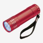 Ručna LED svjetiljka Montargis – crvena