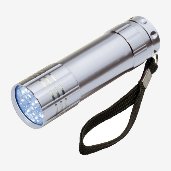 Ručna LED svjetiljka Montargis – srebrna