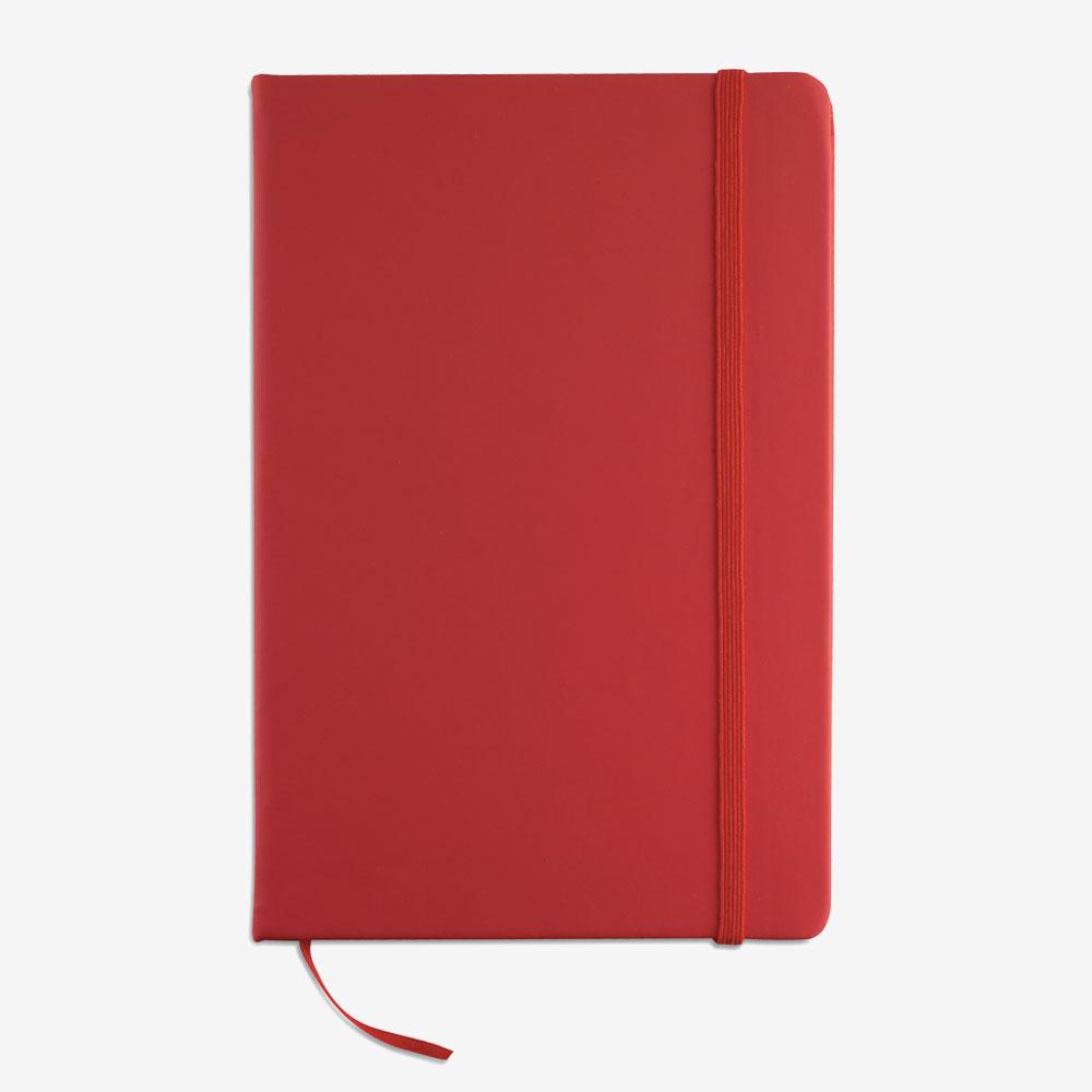 Notes na crte A5 - crveni