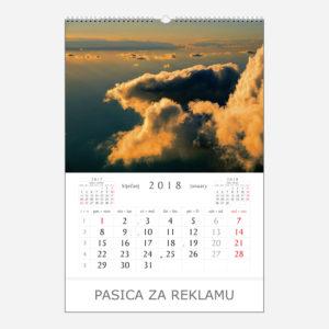 Ekskluzivni kalendar Čarobna priroda 2018 - siječanj