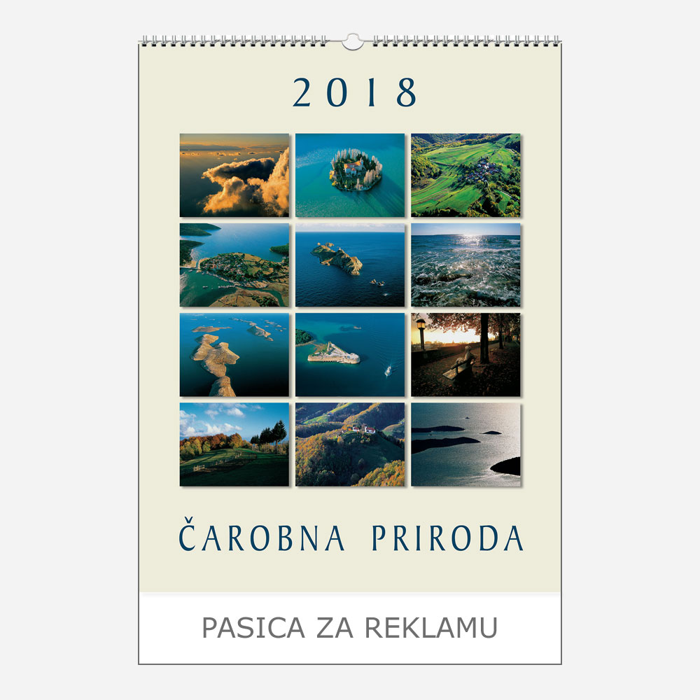 Ekskluzivni kalendar Čarobna priroda 2018