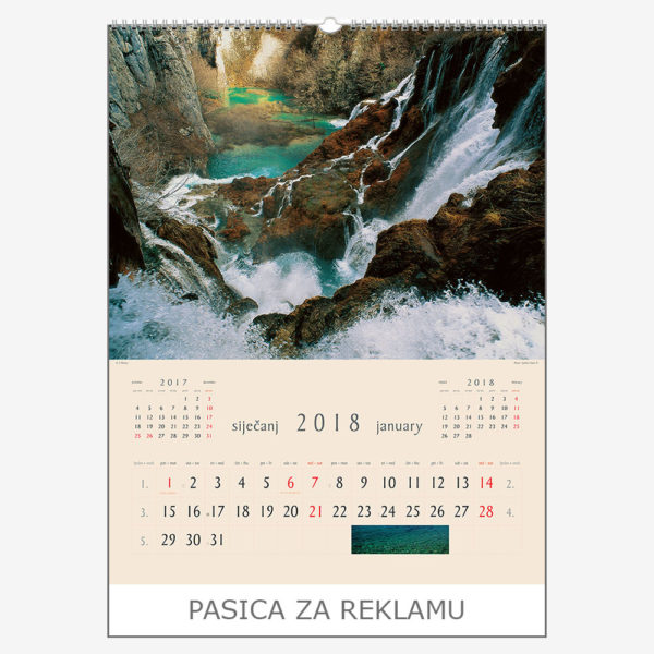 Ekskluzivni kalendar The Beauty of Croatia 2018 – siječanj