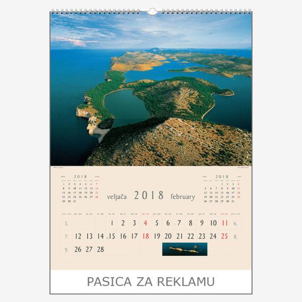 Ekskluzivni kalendar The Beauty of Croatia 2018 – veljača