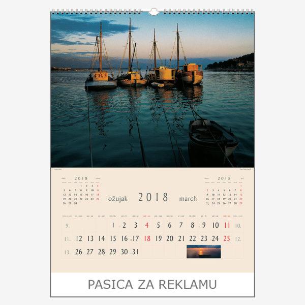 Ekskluzivni kalendar The Beauty of Croatia 2018 – ožujak