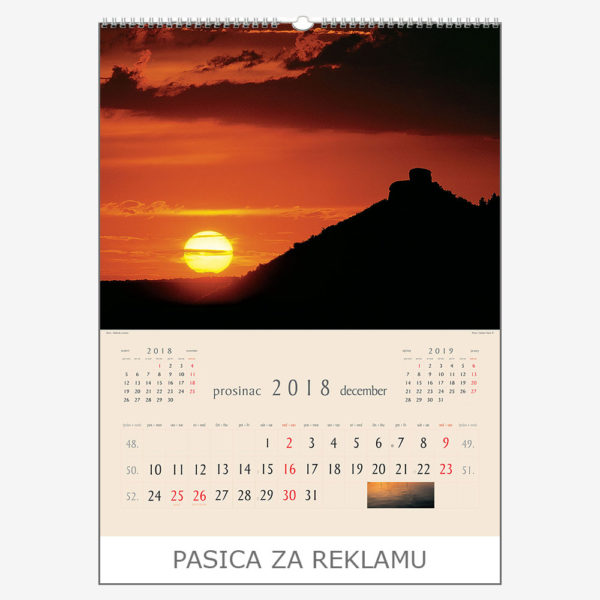 Ekskluzivni kalendar The Beauty of Croatia 2018 – prosinac
