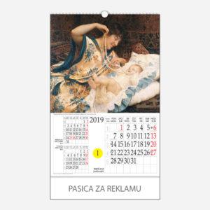 Kalendar s rotacijskim krugom Portreti i pejzaži 2019 - siječanj