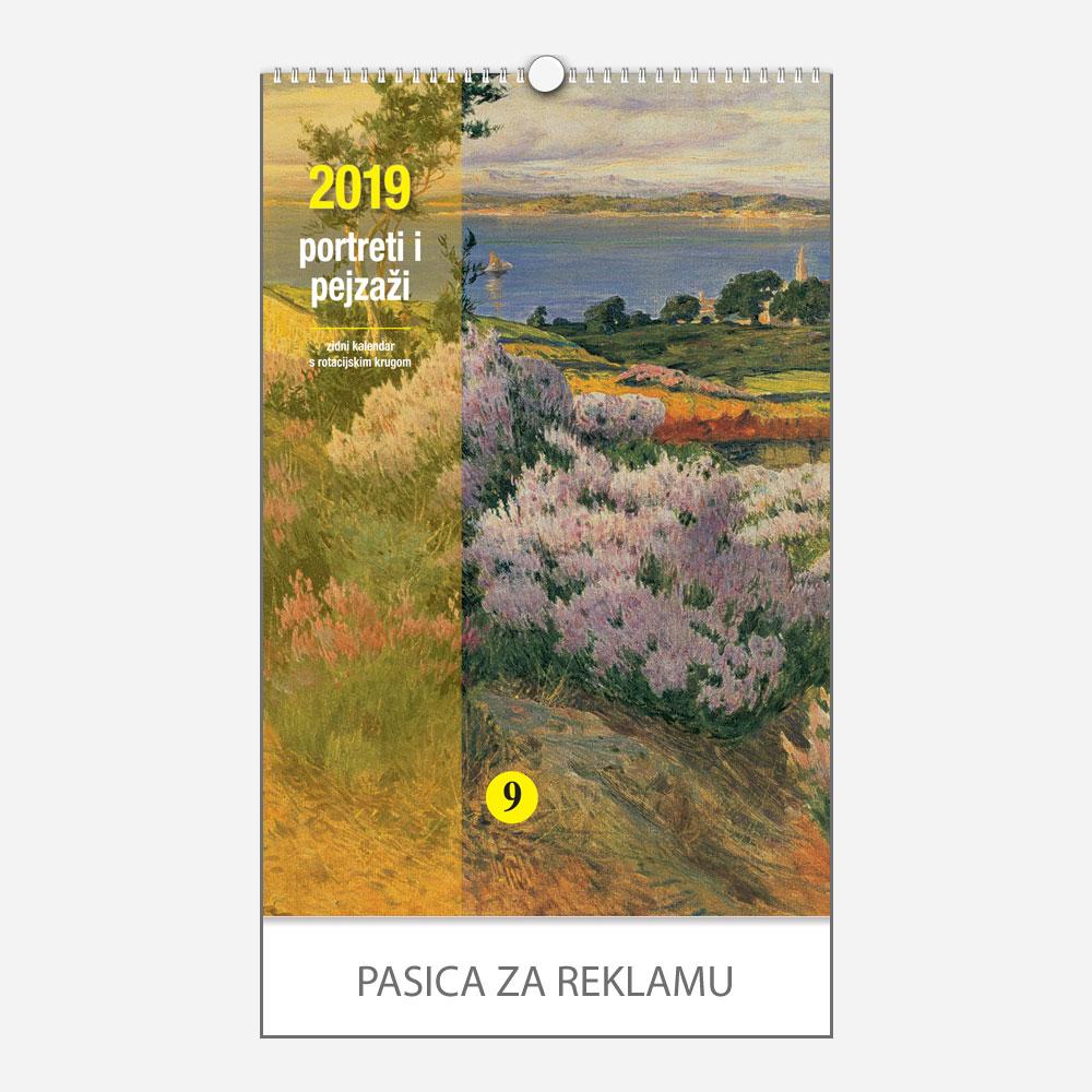 Kalendar s rotacijskim krugom Portreti i pejzaži 2019