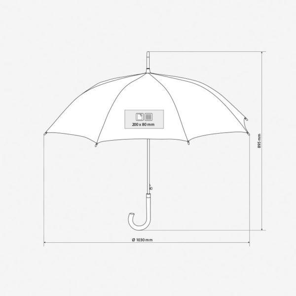 Kišobran Classic - dimenzije