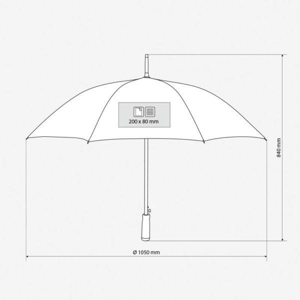 Kišobran Rossi - dimenzije