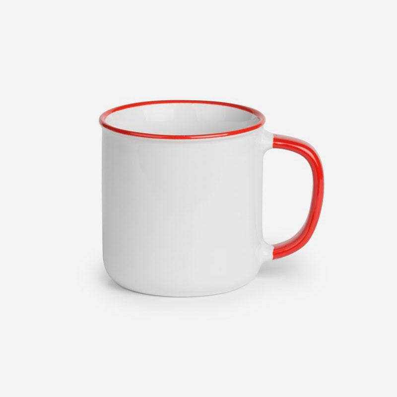 Šalica Betty Bianco - crvena