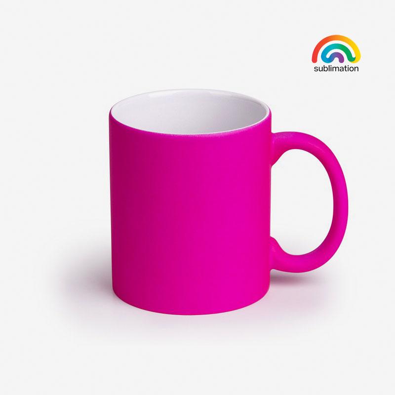 Šalica Lassi Neon - neon roza