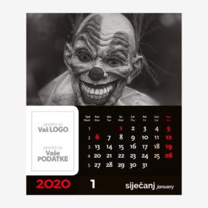 Stolni CD kalendar Horror 2020 - siječanj