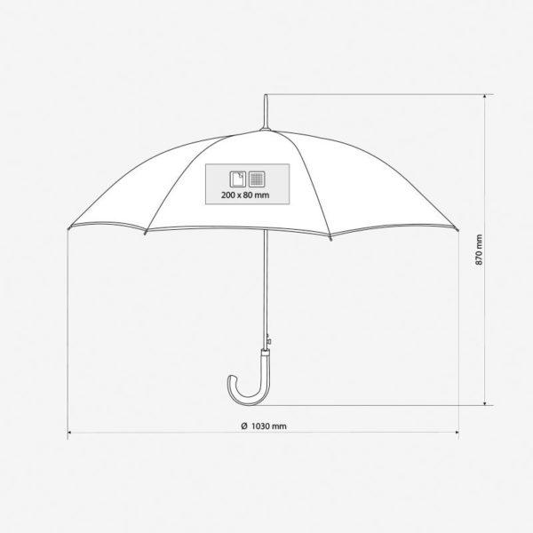 Kišobran Fancy – dimenzije