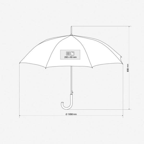 Kišobran Nimbus – dimenzije