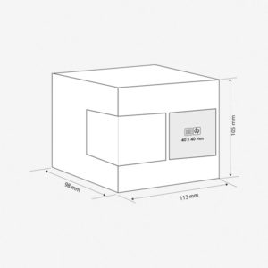 Kutija za šalicu Gifty - dimenzije