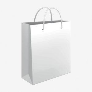 Vrećica 24x39x9 sjajna - bijela