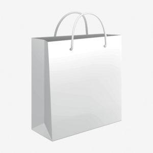 Vrećica 34x39x10 sjajna - bijela