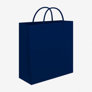 Vrećica 34x39x10 sjajna - plava