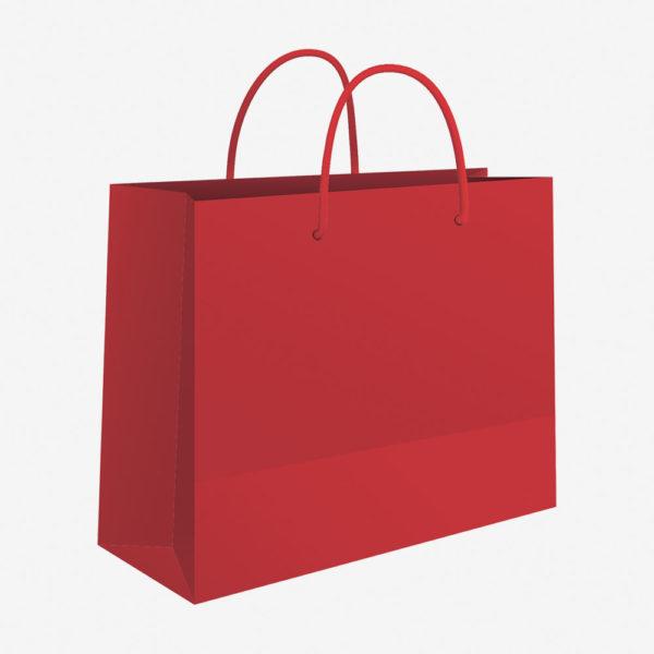 Vrećica 50x37x12 sjajna – crvena