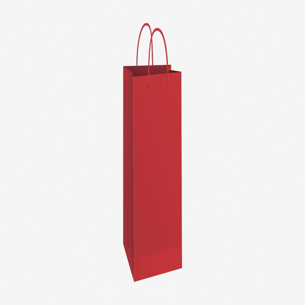 Vrećica za boce 13x40x8 sjajna - crvena