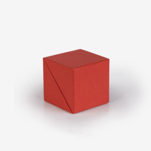 Biorazgradiva sklopiva kocka Block - crvena zatvorena
