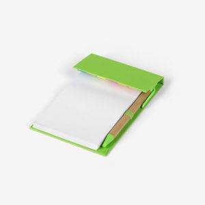 Biorazgradivi notes Sky s olovkom - svijetlo zeleni zatvoreni