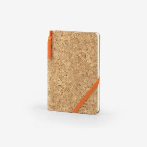 Notes od pluta Cork s olovkom - narančasti
