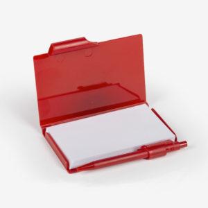 Notes s plastičnim koricama i olovkom Notario - crveni