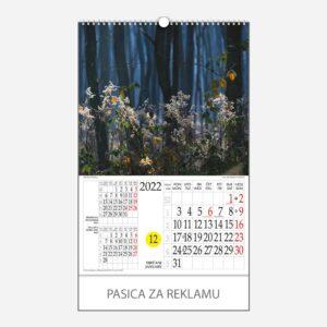 Kalendar s rotacijskim krugom Mistika svjetla 2022 - siječanj