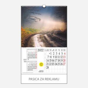 Kalendar s rotacijskim krugom Mistika svjetla 2022 - veljača